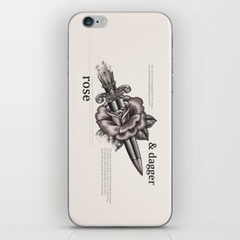 Rose & Dagger iPhone Skin