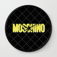 moschino Wall Clocks featuring MOSCHINO Quilted Bag by RickyRicardo787