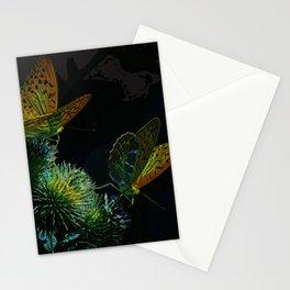 Orange Butterflies II Stationery Cards