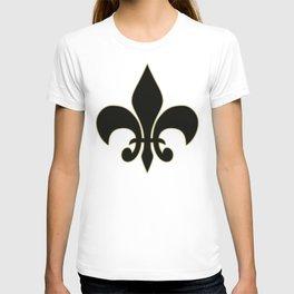 Fleur de lis.... ivory,gold and black T-shirt