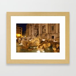 Trevi Fountain - Rome, Italy Framed Art Print