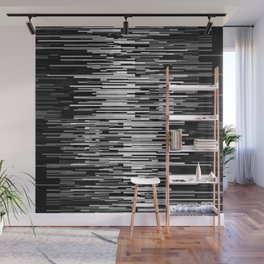 breach in the system. 2020. b&w Wall Mural