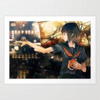 snail Art Prints featuring snail by Gemi