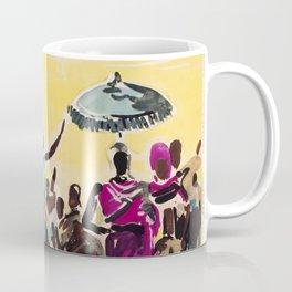 India Vintage Travel Poster Coffee Mug