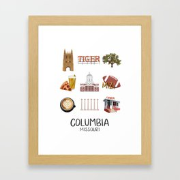 Columbia, Missouri Framed Art Print