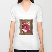 baroque V-neck T-shirts featuring Baroque Sultan by The Nine Store