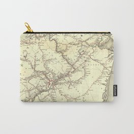 Vintage New Jersey Railroad Map (1869) Carry-All Pouch