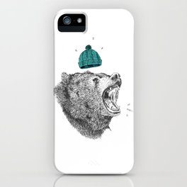 bear and cigaret  iPhone Case
