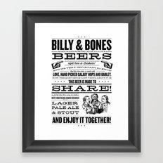 Billy & Bones Hand Crafted Beer Framed Art Print