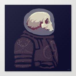 Spaceknight Skully Canvas Print