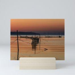 Fishing Nets in the Water Mini Art Print