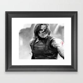 Winter Soldier/Bucky Barnes Framed Art Print