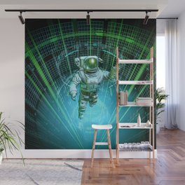 Diving The Data Core Wall Mural