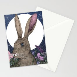 The Hare and the Moon  Stationery Cards