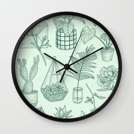PLANTS LOVER Wall Clock