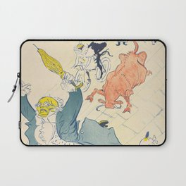 "Henri de Toulouse-Lautrec ""La Vache Enragée (The Mad Cow)"" Laptop Sleeve"