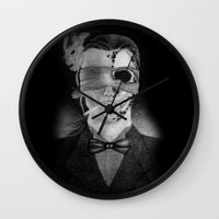 smoking Wall Clocks featuring Smoking by Havier Rguez.