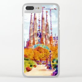 La Sagrada Familia - Park View Clear iPhone Case