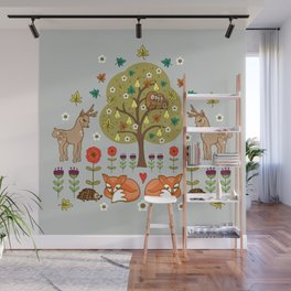 Woodland Wild Things Wall Mural