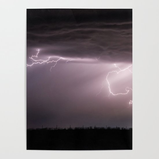 Summer Lightning Storm On The Prairie VI - Nature Landscape by cascadia