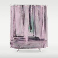 et Shower Curtains featuring Rose et Vert by Georgiana Paraschiv