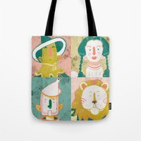 oz Tote Bags featuring Oz by StinkyInky_Jess