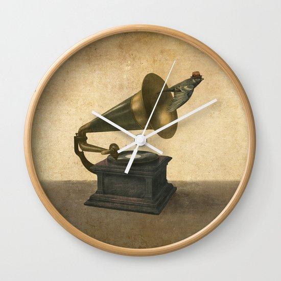 Vintage Songbird Wall Clock