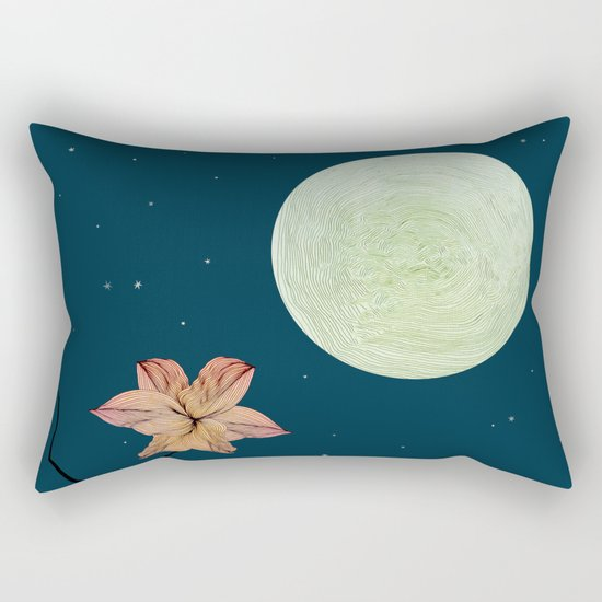 Moonlit Flower Rectangular Pillow