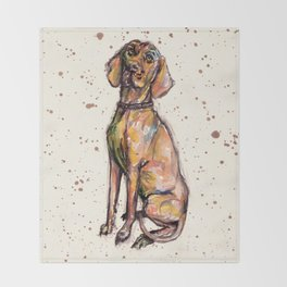 Hungarian Vizsla Dog Throw Blanket