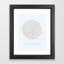 Circle Murmuration Framed Art Print