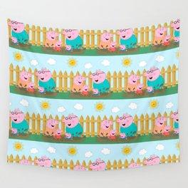 Peppa Pg Pattern 11 Wall Tapestry