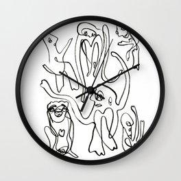 Loopy People Wall Clock