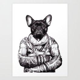 Astro Frog Art Print