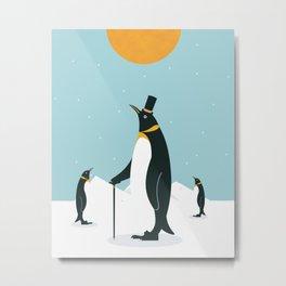 Noble Penguins Metal Print