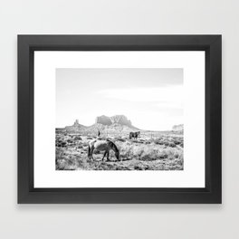 horses Framed Art Print