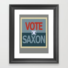 Vote Saxon Framed Art Print