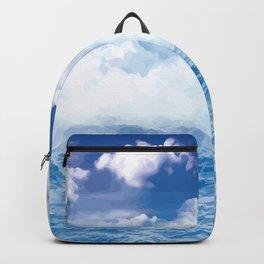 Wolken über dem Meer Backpack