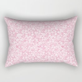 Flower doodle in rose Rectangular Pillow