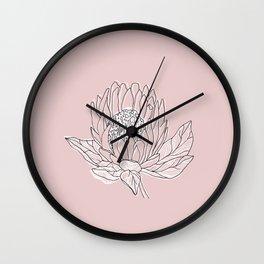 Queen Protea Wall Clock
