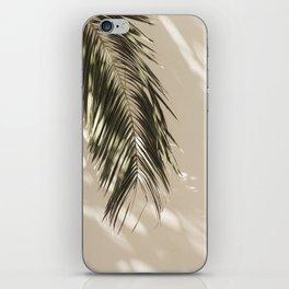 Palm Leaf Shadow Summer iPhone Skin