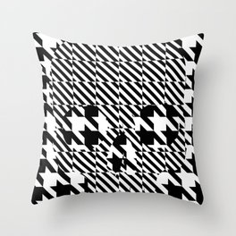 HOUNDSTOOTH SKULL #3 Throw Pillow