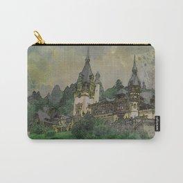 Peles Castle Romania Watercolor Carry-All Pouch