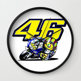 Valentino Rossi little supporter Wall Clock