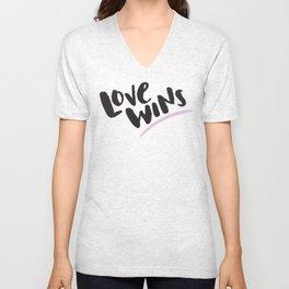 Love Wins Unisex V-Neck