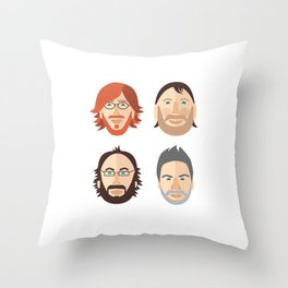 Trey, Fish, Mike, Page as Vector Characters Throw Pillow