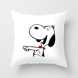 snoopy_laughing Throw Pillow
