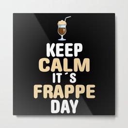 Frappe Puns Metal Print