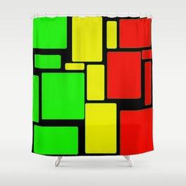 Ghanaian colors Shower Curtain
