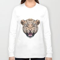 leopard Long Sleeve T-shirts featuring LEOPARD by swtdrw