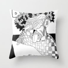 Branco fobia Throw Pillow
